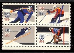 1980 - U.S. # 1795-1798 - Block Of 4 - Mint VF/NH - Unused Stamps