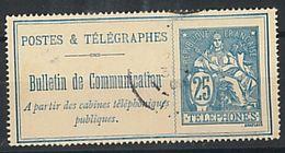 FRANCE - TIMBRE TELEGRAPHES ET TELEPHONES - YT N° 25   TB - Telegraaf-en Telefoonzegels