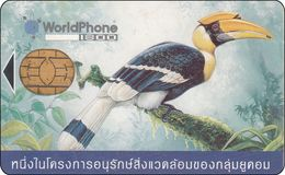 Thailand  Phonecard GSM Card WorlPhone Verry Old And RRR Anfang Der GSM Karten Vogel Kormoran Bird - Thaïlande