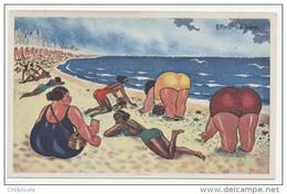 HUMOUR  /  PIN UP /  BAIGNEUSE      ED    GABY    N° 20    ANNEE 50/  60    CPA 9 X 14  NEUVE - Humour