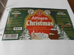 .ETIQUETTE BIERE AFFLIGEM CHRISTMAS - Beer