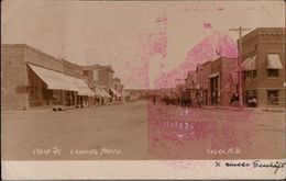 ! Old Photocard 1908 Velva North Dakota, USA, Main Street, Shops - United States