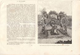 1892 - Gravure Sur Bois - Nivillers (Oise) - La Tombe Du Baron De Reinach - FRANCO DE PORT - Vieux Papiers