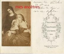 CDV-en 1863-souvenir De Verdelais-dédicace De Félicie De Ségur à Mme De Leybardie-tableau-Bulla Frères à Paris - Anciennes (Av. 1900)