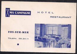 Ma Campagne - Hôtel Restaurant - Fos-sur-Mer - Cartes De Visite