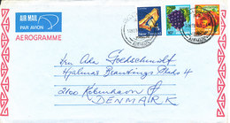 New Zealand Aerogramme Sent To Denmark 6-5-1984 - Aérogrammes