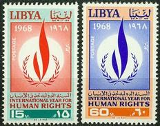 Libya 1968, Human Rights Mi.# 247-248, MNH / ** - Libië