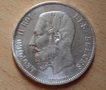 Belgique, Léopold II (1865-1909), 5 Francs 1873 - 1865-1909: Leopold II