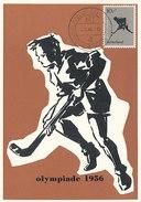 D30663 CARTE MAXIMUM CARD 1956 NETHERLANDS - FIELD HOCKEY OLYMPICS MELBOURNE CP ORIGINAL - Hockey (Field)