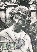 D30667 CARTE MAXIMUM CARD FD 1956 FRANCE - SOURIRE DE REIMS ANGE - SMILING ANGEL REIMS - DETAIL ON STAMP CP ORIGINAL - Cartes-Maximum