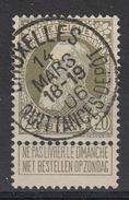 BELGIË - OPB - 1905 - Nr 75 (BRUXELLES - QUITTANCES DEPOT (COBA - T1L)) - Gest/Obl/Us - 1905 Grosse Barbe