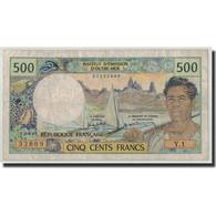 Nouvelle-Calédonie, 500 Francs, Undated (1969-92), KM:60e, TB - Nouméa (New Caledonia 1873-1985)