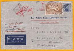 1930 -  Enveloppe D ' Uruguay  Vers Berlin, Allemagne Par Aéropostale Via Marseille - Affrt 38 C - Uruguay