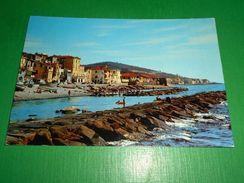Cartolina Riva Ligure - La Spiaggia 1972 - Imperia