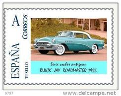 COCHE BUICK JAY ROADMASTER 1855  - THEME CARS-AUTOS-VOITURES - TU SELLO PERSONALIZADO ESPAÑA - Coches