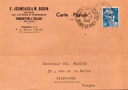 ARGENTON L'EGLISE - E.JOUNEAUD - M.BODIN  -  14-2-1948 - Francia