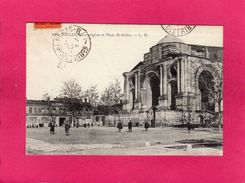 31 Haute Garonne, TOULOUSE, Eglise Et Place St-Aubin, Animée, 1911, (L. M.) - Toulouse
