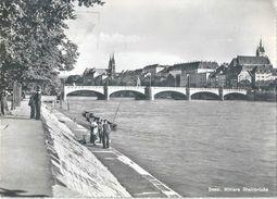 Basel - Mittlere Rheinbrücke, Fischen Im Fluss          Ca. 1950 - BS Bâle-Ville