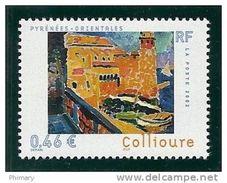 Timbre Neuf N° 3497 Le Chemin Du Fauvisme, 22 Juin 2002,  Collioure, Phare, Port, Bateaux - France