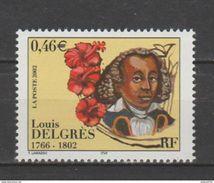 Timbre Neuf FRANCE / 2002 / Y&T N° 3491 ** : Louis DELGRES - Gomme D´origine Intacte - France