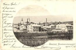 T2/T3 Besztercebánya, Banska Bystrica; Látkép Gyárral. Sonnenfeld Mór... - Postcards