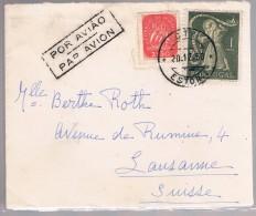 Portugal, 1950, Estoril-Lausanne - Lettres & Documents