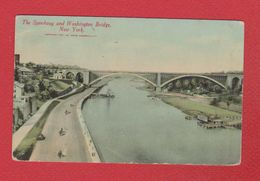 New York  -- The Speedway And Washington Bridge - Ponts & Tunnels
