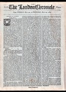 """""""The London Chronicle"""" Newspaper Dated  '22nd May 1787'.  Contains A Post Office Article.  Displays Well. - Old Paper"""