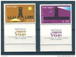 Israel - 1963, Michel/Philex No. : 280/281,  - MNH - *** - Full Tab - Neufs (avec Tabs)