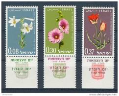 Israel - 1963, Michel/Philex No. : 283/284/285,  - MNH - *** - Full Tab - Israël