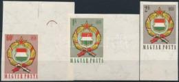 ** 1958 Népköztársasági Címer (II.) ívszéli Vágott Sor... - Stamps