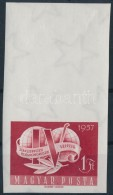 ** 1957 Szakszervezet (V.) Vágott Bélyeg Nagy ívszéllel (5.000) - Stamps