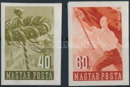 ** 1954 Május 1. (V.) Vágott Sor (8.000) - Stamps
