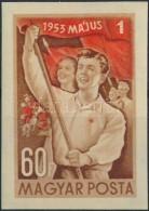 ** 1953 Május 1. (IV.) Vágott Bélyeg (8.000) - Stamps