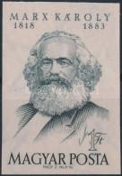 ** 1953 Karl Marx Vágott Bélyeg (8.000) - Stamps