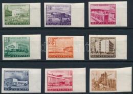 ** 1953 Épületek (II.) Vágott ívszéli Sor Nagy Képméretben (60.000) - Stamps