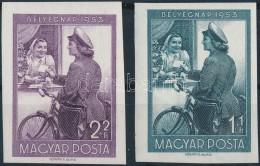 ** 1953 Bélyegnap (26.) Vágott Sor (9.000) - Stamps