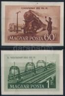 ** 1952 Vasútnap Vágott Sor (7.000) - Stamps