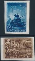 ** 1951 Néphadsereg Napja (I.) Vágott Sor (10.000) - Stamps