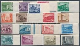 ** 1951 Épületek (I.) Vágott Sor Nagy Képméretben (60.000) - Stamps