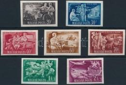 ** 1951 Az ötéves Terv Eredményi Vágott Sor (14.000) - Stamps