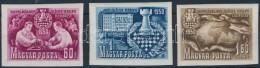 ** 1950 Sakk (I.) Vágott Sor (45.000) - Stamps