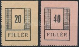 ** Nyíregyháza 1944/1945 1 + 2a (240.000) Vizsgálat Nélkül - Stamps