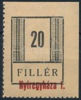 ** Nyíregyháza II. 1944 20f (60.000) Vizsgálat Nélkül - Stamps