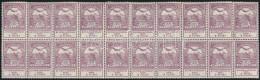 ** 1913 Árvíz 35f Hajtott Huszastömb (16.000) - Stamps