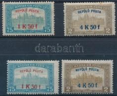 ** * 1918 RepülÅ' Posta Sor + Hamis Felülnyomású Sor (összehasonlítási... - Stamps