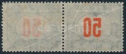 ** 1915 Pirosszámú Portó 50f (törött) Pár, Csak Az Egyik! Bélyegen Az... - Stamps