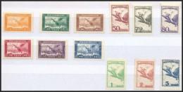 ** 1927 RepülÅ'  Sor (10.000) (32f és 5P Papírránc / Paper Crease) - Stamps