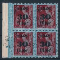 ** 1945 KisegítÅ' 30f/30f Négyestömb KettÅ's Felülnyomással.... - Stamps