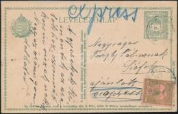 1917 Expressz Ajánlott 8f Díjjegyes LevelezÅ'lap 60f Díjkiegészítéssel... - Stamps